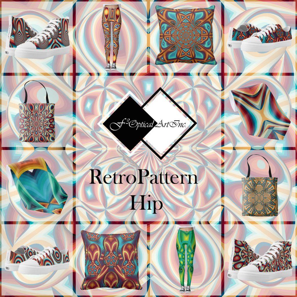 Op-Art Fashion Retro Pattern Hip