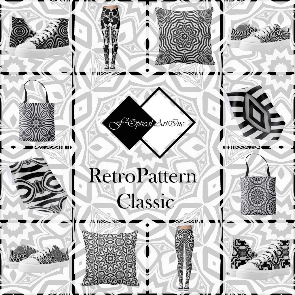 Op-Art Fashion Retro Pattern Classik