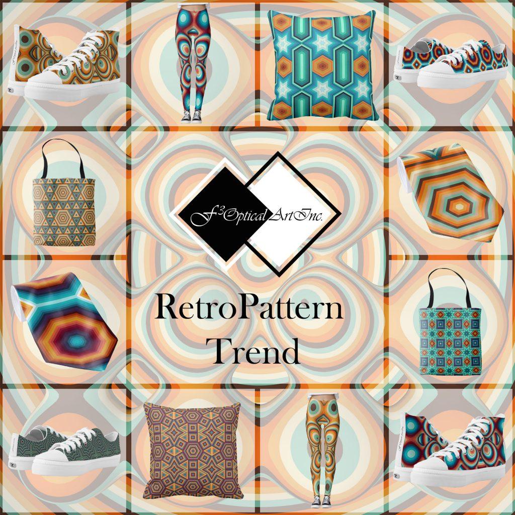 Op-Art Mode Retro Pattern