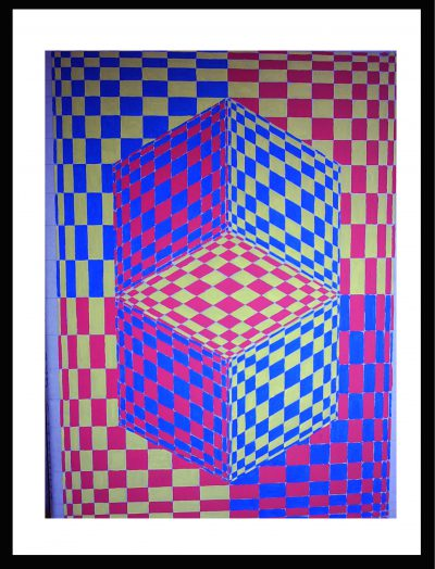 Op-Art Gemälde 065