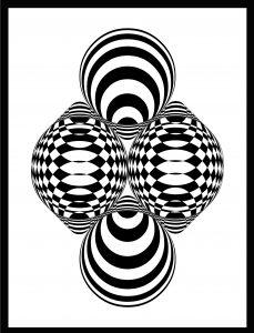 Op-Art Grafik 08
