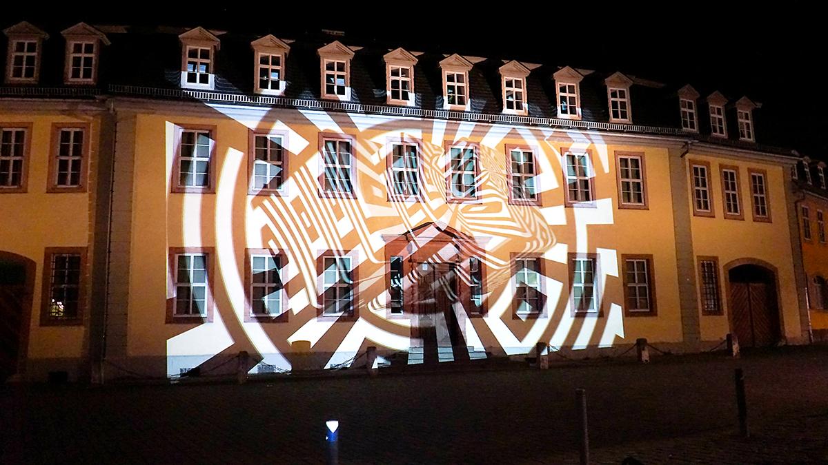 Weimar Steet Art / Kunstfest bauhaus Bibliothek Illu my nation/ cinema kinetik