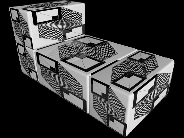 Cube 2.02 Motiv 10 / Op-Art Liege