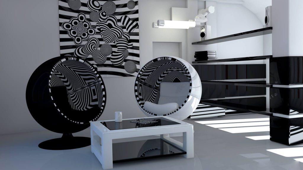 Visions opticalartinc Ball Chair