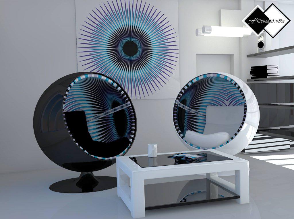 Inneneinrichtung Op-Art Ball Chair