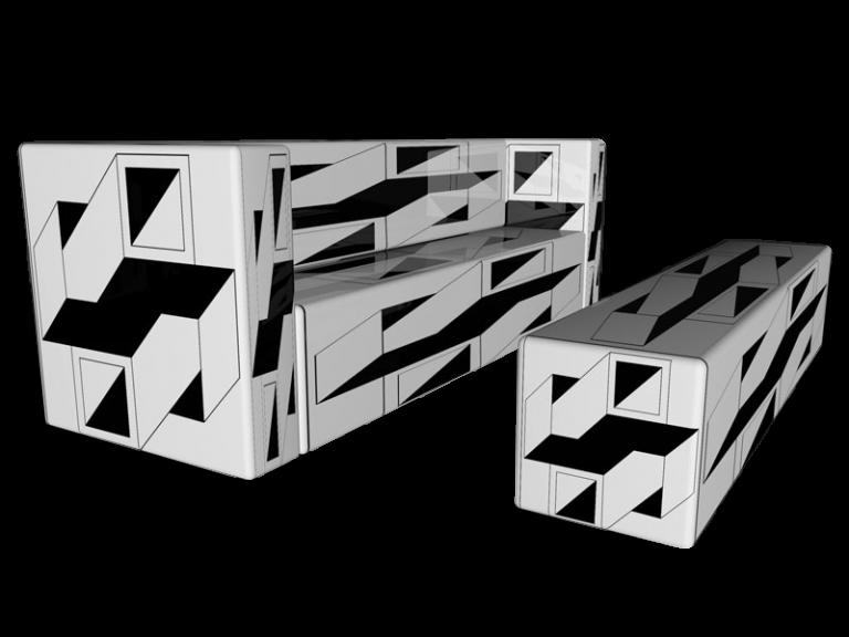 Cube 1.0 Motiv 19 / Dreisitzer