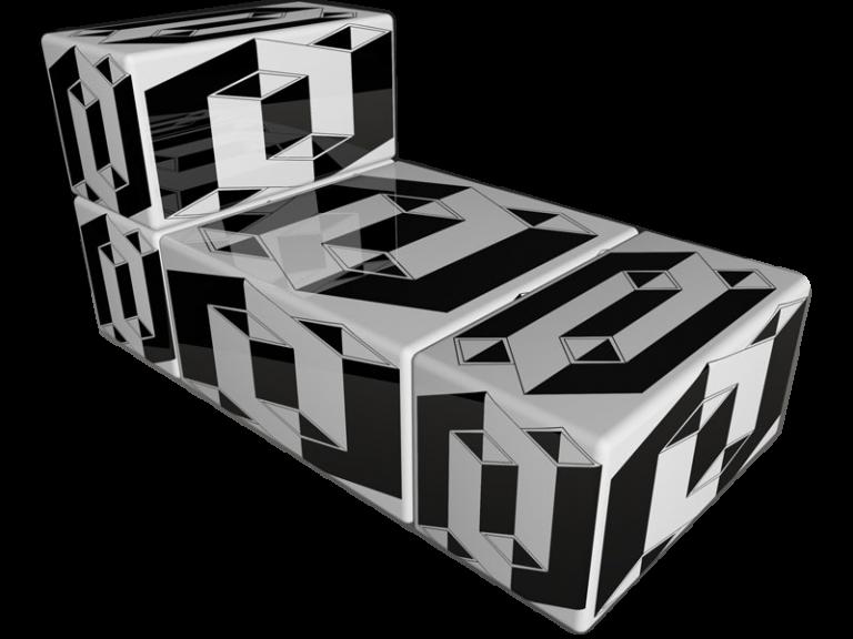 Cube 2.02 Motiv 20/ Op-Art Liege