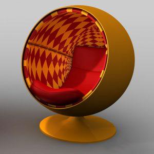 Specials Op-Art Möbel Ball Chair