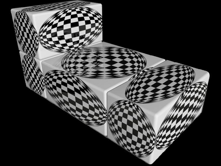 Cube 2.02 Motiv 02 /Op-Art Liege