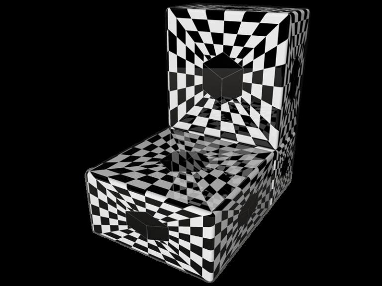 Cube 2.0 Op-Art Grafik 03