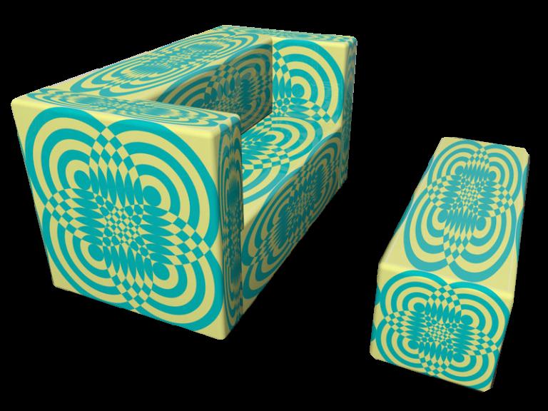 Cubes Furniture Op-art