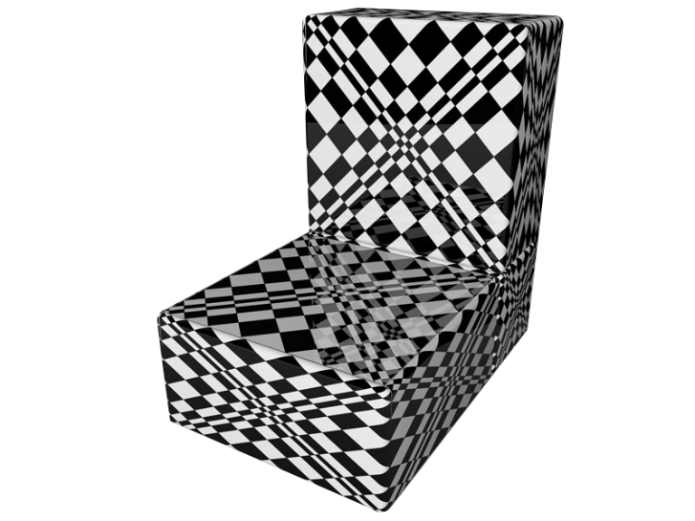 Cube 2.0 Op-Art Grafik 07