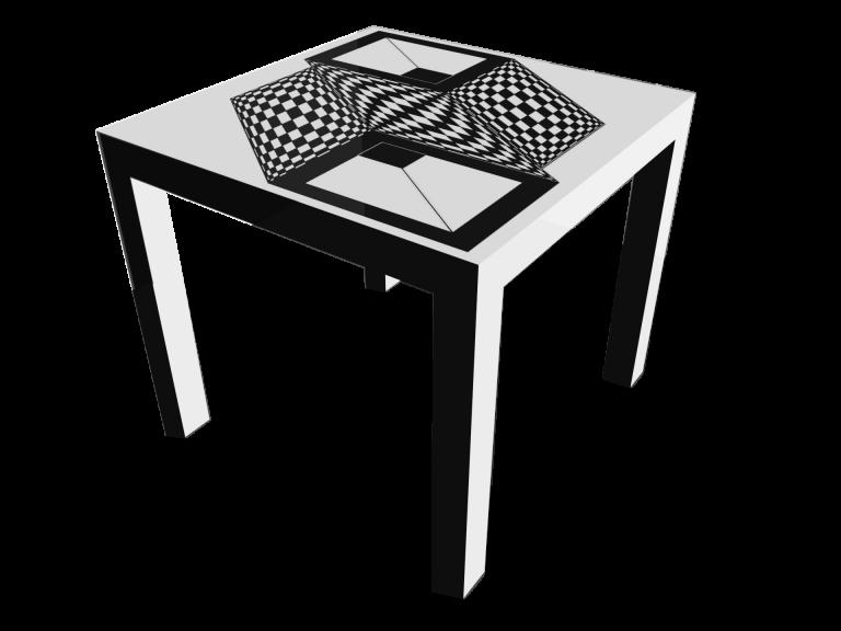Op-Art Tisch 90x90cm Grafik 10