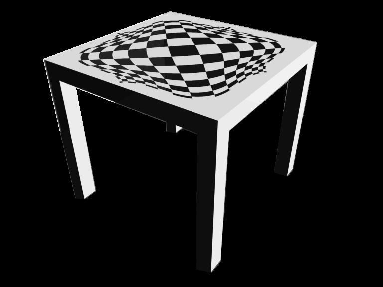 Op-Art Tisch 90x90cm Grafik 13