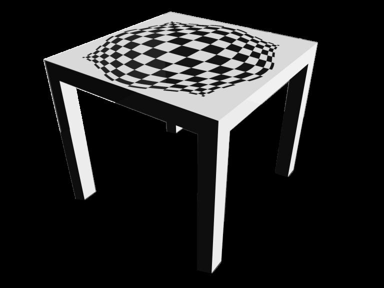 Op-Art Tisch 90x90cm Grafik 15