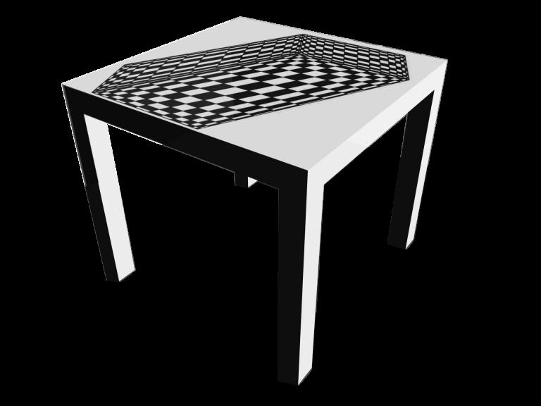 Op-Art Tisch 90x90cm Grafik 18