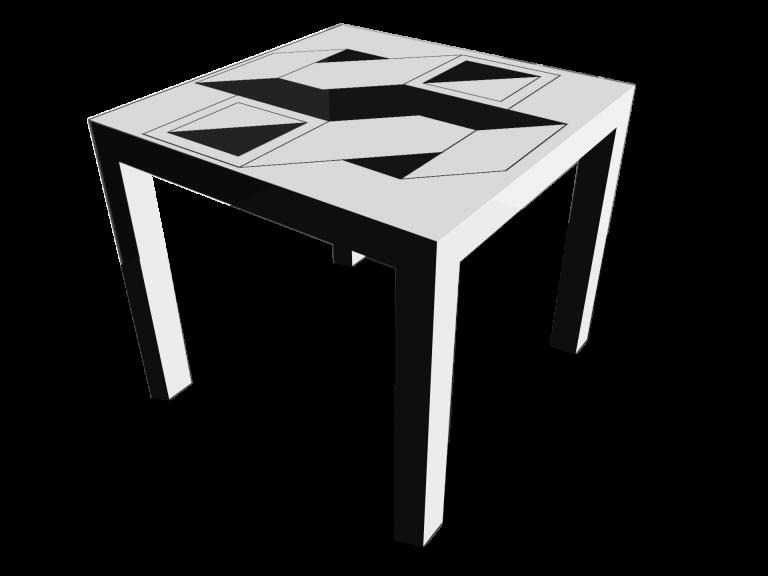Op-Art Tisch 90x90cm Grafik 19