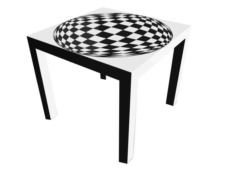 Op-Art Tisch 90x90cm Grafik 02
