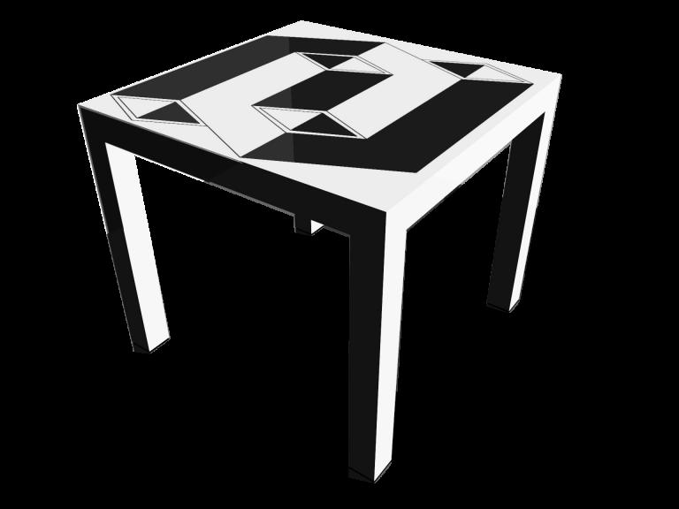 Op-Art Tisch 90x90cm Grafik 20