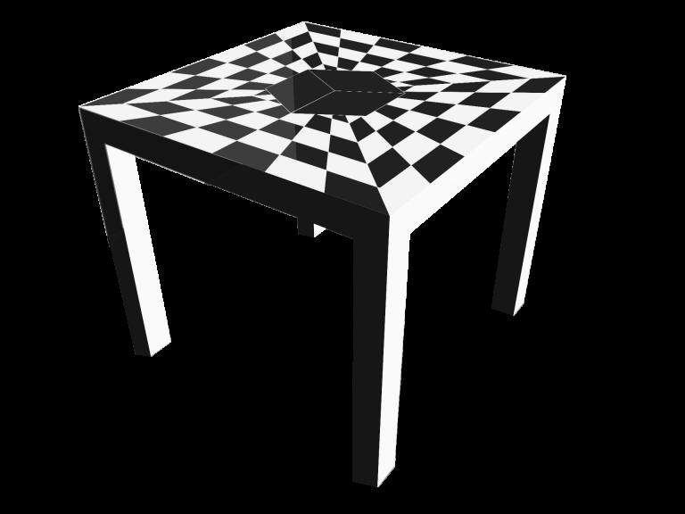 Op-Art Tisch 90x90cm Grafik 03