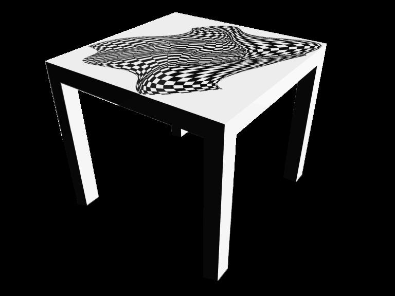 Op-Art Tisch 90x90cm Grafik 04
