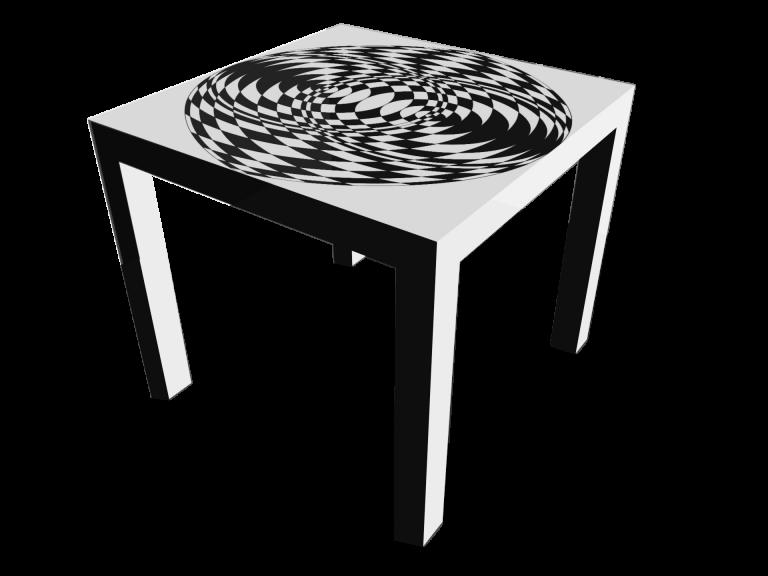 Op-Art Tisch 90x90cm Grafik 09
