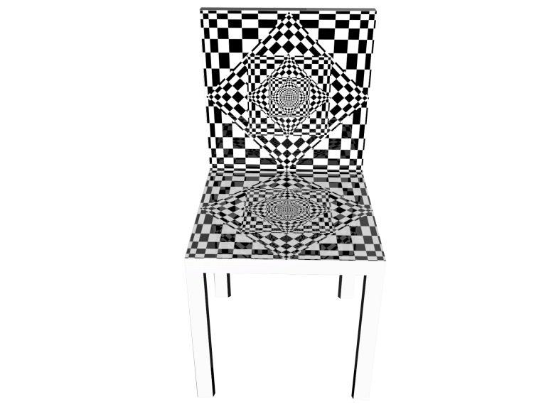 Op-Art Stuhl Grafik 01