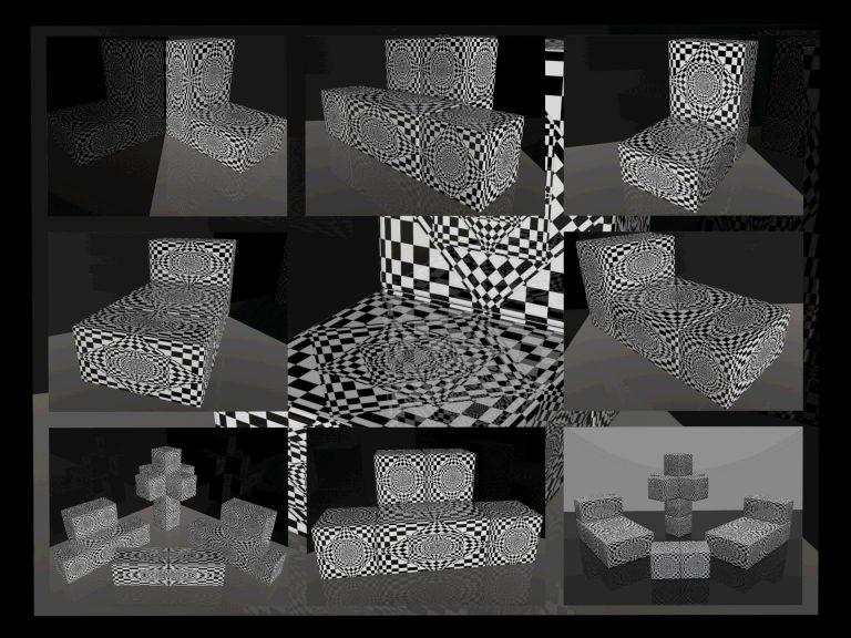 OP-Art Cube varias Grafik 01...
