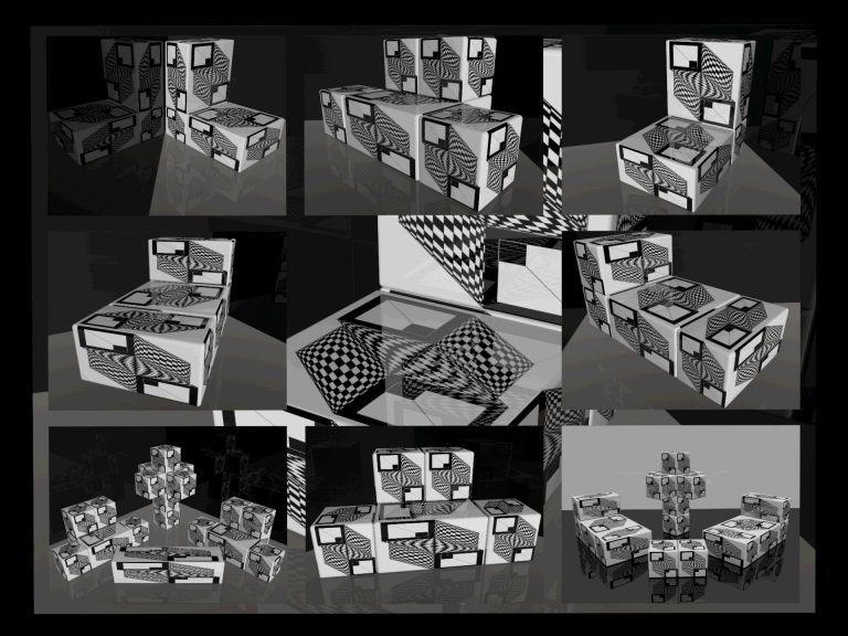 OP-Art Cube varias Grafik 10...
