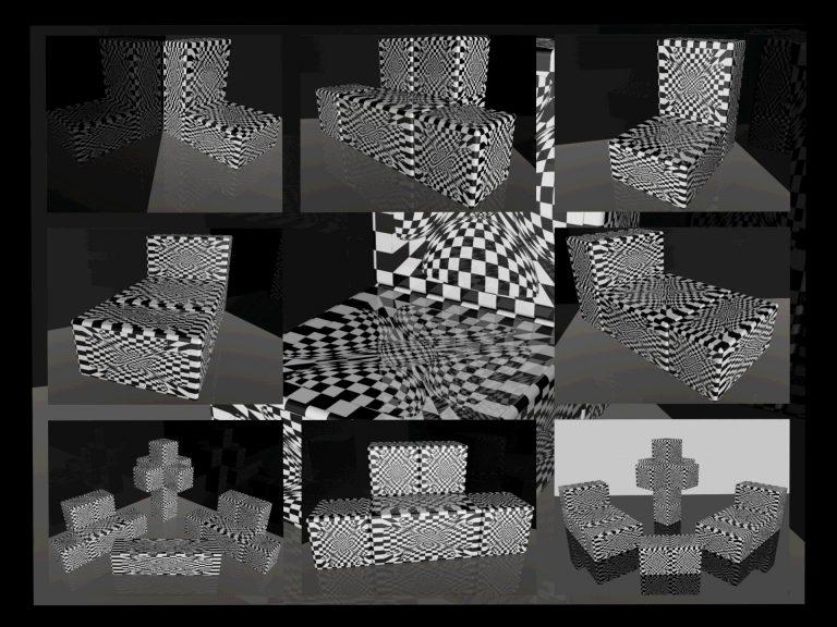 OP-Art Cube varias Grafik 11...