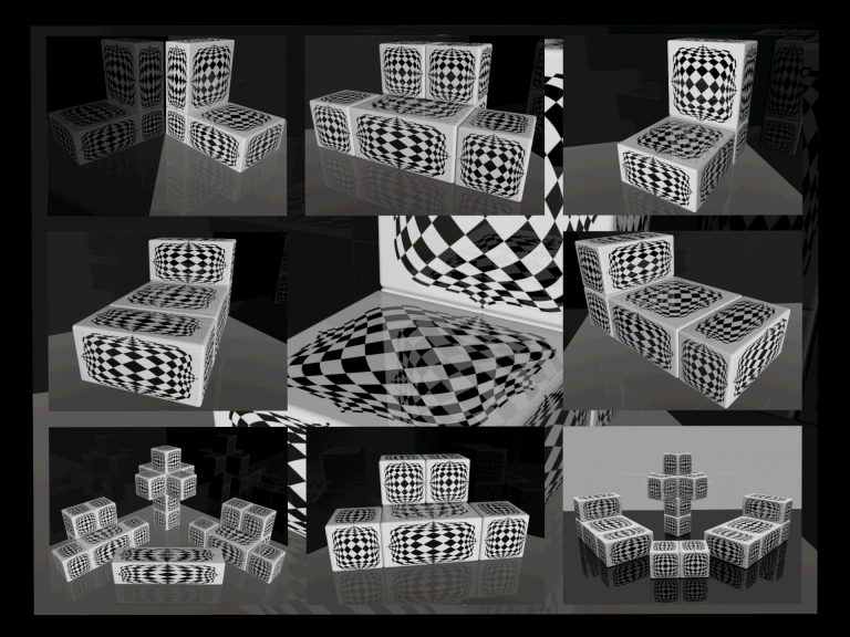 OP-Art Cube varias Grafik 13...