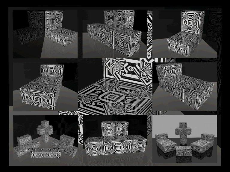 OP-Art Cube varias Grafik 16...