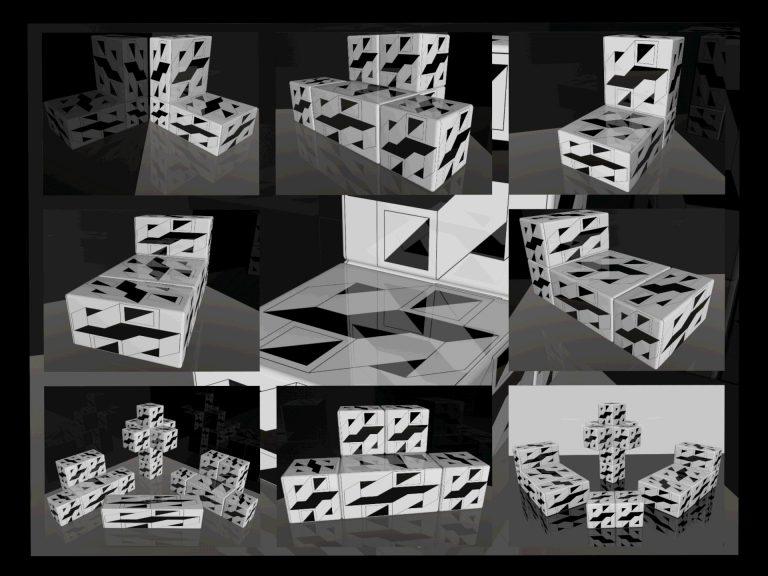 OP-Art Cube varias Grafik 19...