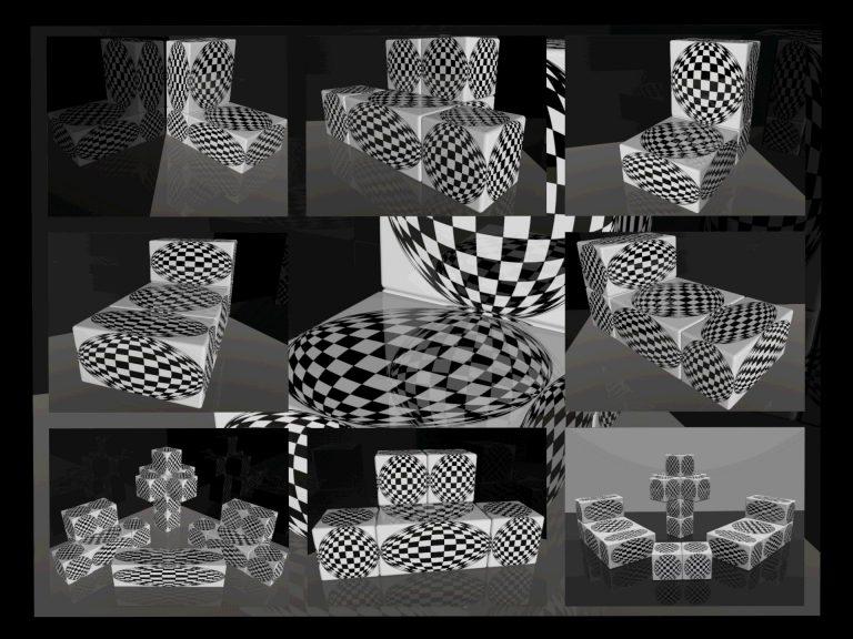 OP-Art Cube varias Grafik 02...