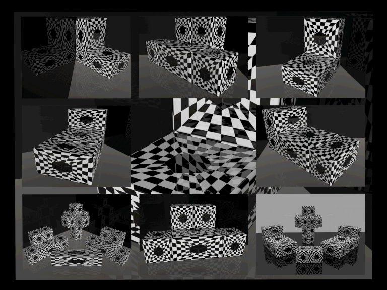 OP-Art Cube varias Grafik 03...
