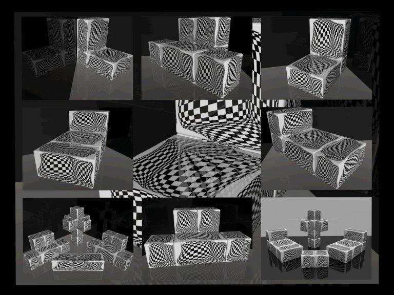 OP-Art Cube varias Grafik 05...