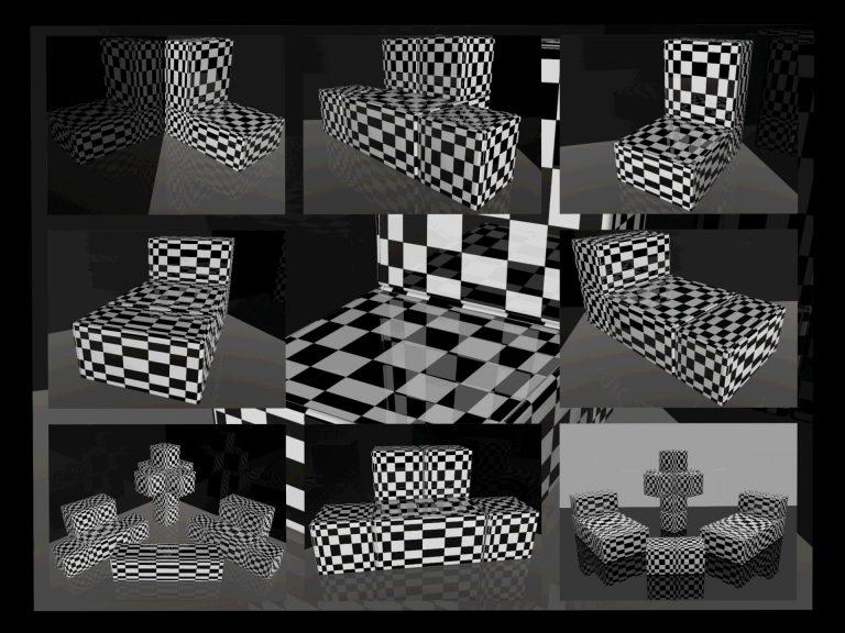 OP-Art Cube varias Grafik 06...