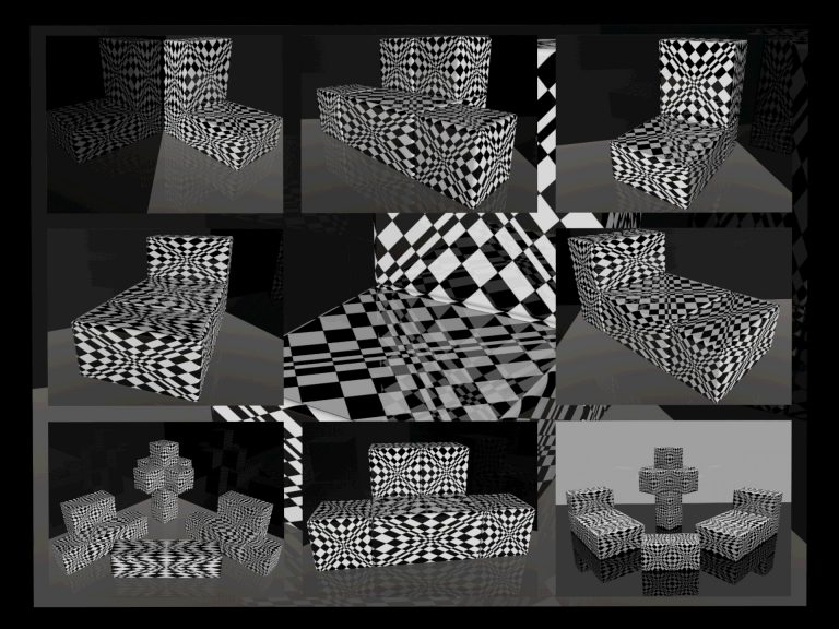 OP-Art Cube varias Grafik 07...