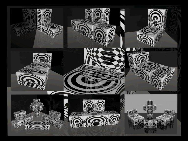 OP-Art Cube varias Grafik 08...