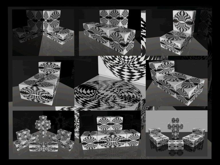 OP-Art Cube varias Grafik 09...
