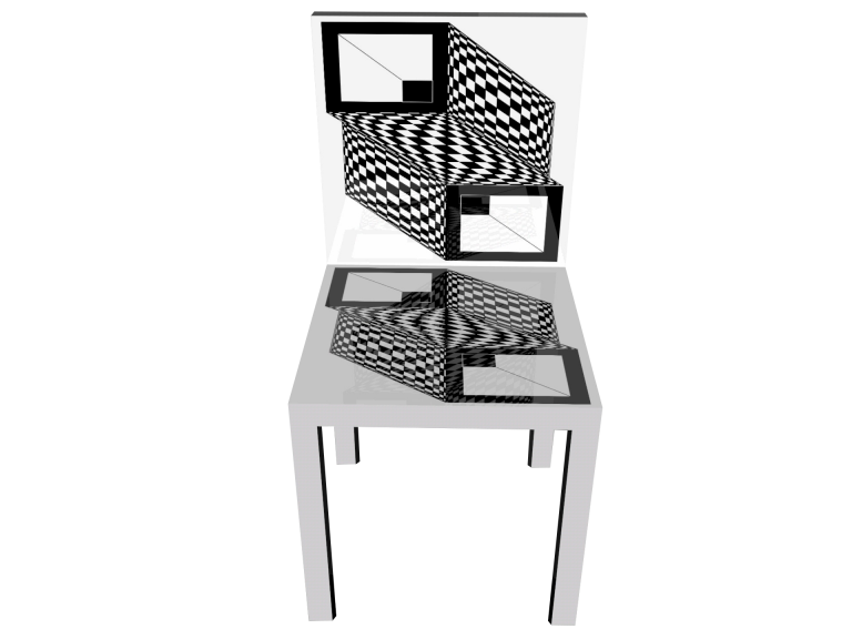 Op-Art Stuhl Grafik 10