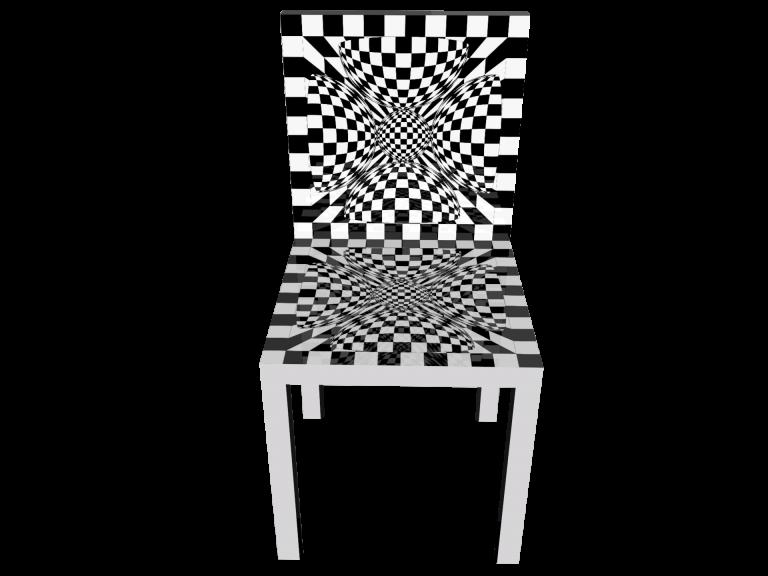 Op-Art Stuhl Grafik 11