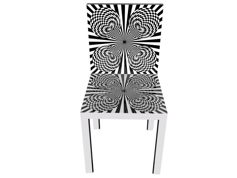 Op-Art Stuhl Grafik 12