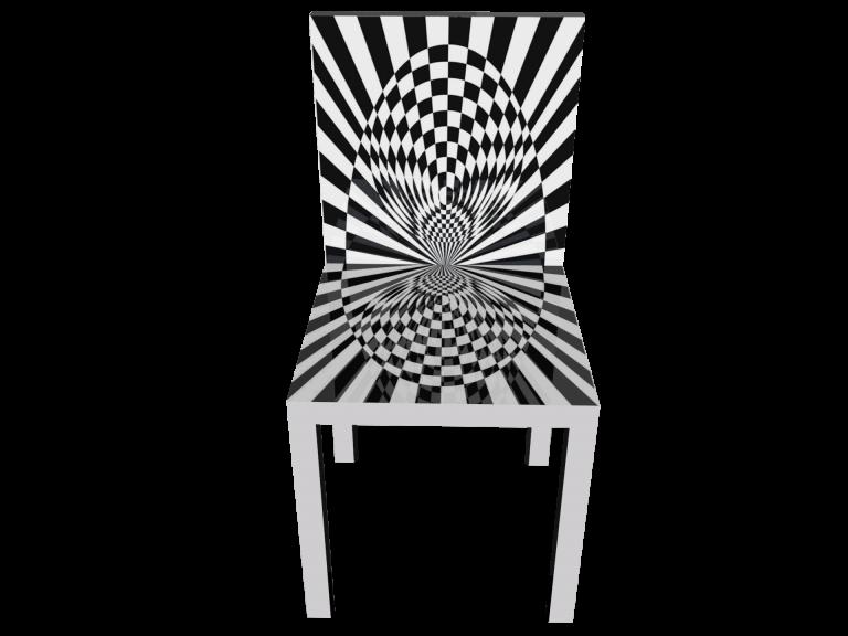 Op-Art Stuhl Grafik 14