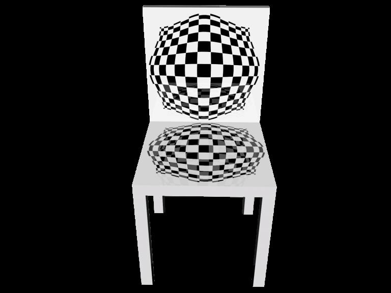 Op-Art Stuhl Grafik 15