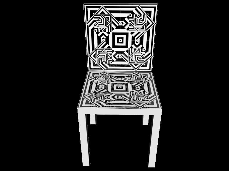 Op-Art Stuhl Grafik 16