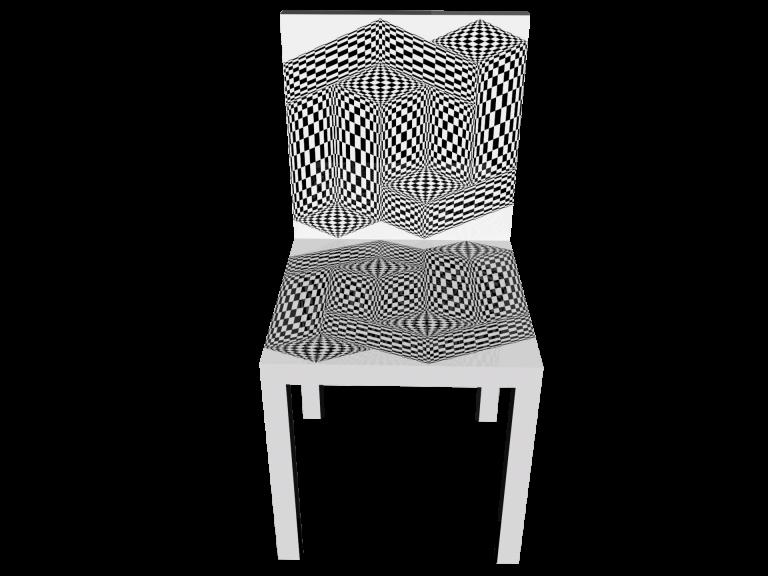 Op-Art Stuhl Grafik 17