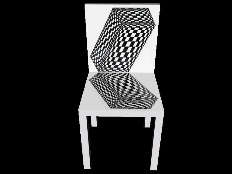 Op-Art Stuhl Grafik 18