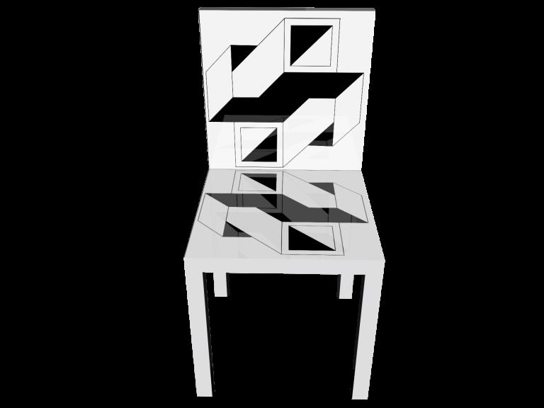 Op-Art Stuhl Grafik 19