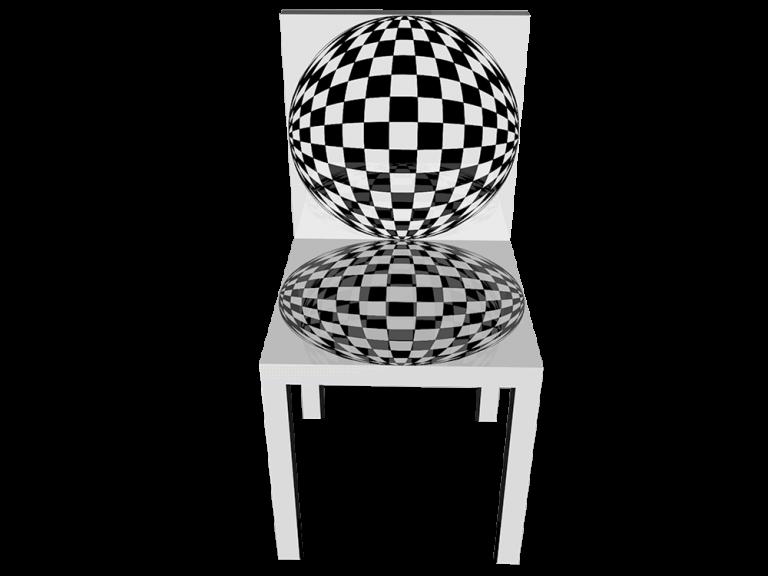 Op-Art Stuhl Grafik 02